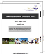sports dna reports